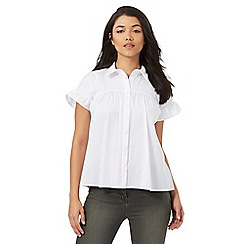 Red Herring - White frill blouse