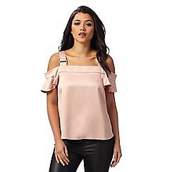 Red Herring - Pale pink cold shoulder top