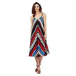 Red Herring - Multi-coloured striped midi dress