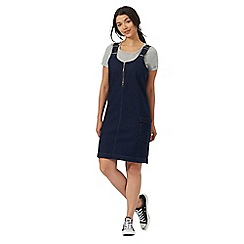 Red Herring - Dark blue denim pinafore