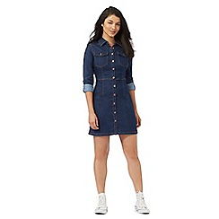 Red Herring - Blue denim shirt dress