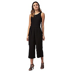 Red Herring - Black cropped wide leg jumpsuit