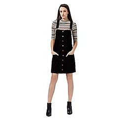 Red Herring - Black button through pinafore