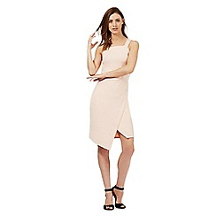 Red Herring - Light pink wrap over scuba dress