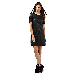 Red Herring - Black whip stitch shift dress