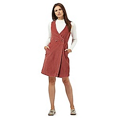 Red Herring - Light pink cord wrap dress