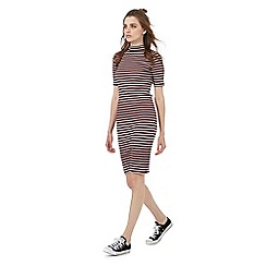 Red Herring - Multi-coloured striped print turtle neck dress