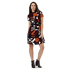 Red Herring - Multi-coloured geometric print dress