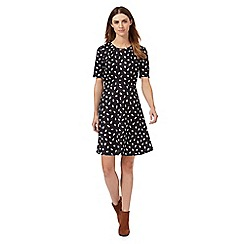 Red Herring - Black cat print skater dress
