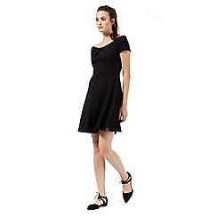 Red Herring - Black textured Bardot skater dress