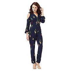 Red Herring - Navy floral print jumpsuit