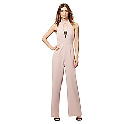 Red Herring - Light pink lace jumpsuit