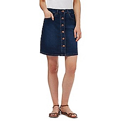 Red Herring - Dark blue denim A-line skirt