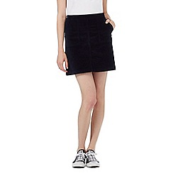 Red Herring - Navy corduroy mini skirt