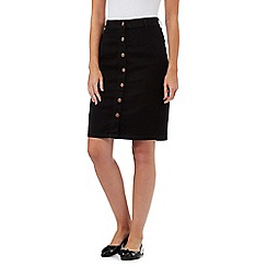 Red Herring - Black denim midi skirt