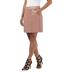 Red Herring - Light pink seamed mini skirt