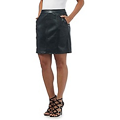 Red Herring - Dark green seamed mini skirt