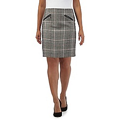 Red Herring - Grey checked mini skirt