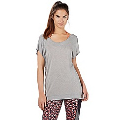Red Herring Activewear - Grey split back double layer top