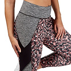 Red Herring Activewear - Multi-coloured camo print crop leggings