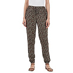 Red Herring - Multi-coloured floral print trousers