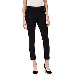 Red Herring Petite - Black textured cropped trousers