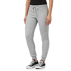 Red Herring - Grey chevron jacquard jogging bottoms