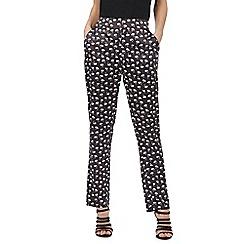 Red Herring - Dark Grey swan print pyjama style bottoms