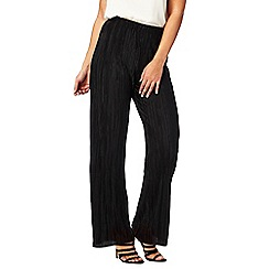 Red Herring - Black wide leg plisse trousers