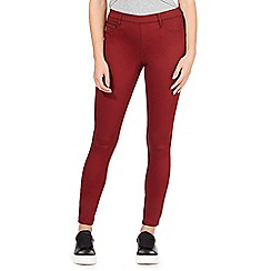 Red Herring - Dark orange 'Georgia' pull-on jeggings