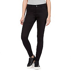 Red Herring - Black 'Holly' ultra-stretch super skinny jeans