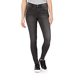 Red Herring - Dark grey 'Holly' supersoft ultra-stretch super skinny jeans
