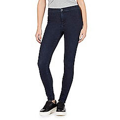 Red Herring - Dark blue 'Heidi' ultra-stretch high-waisted super skinny jeans