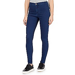 Red Herring - Blue 'Heidi' ultra-stretch high-waisted super skinny jeans