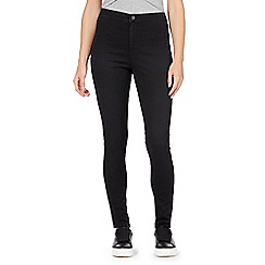 Red Herring - Black 'Heidi' ultra-stretch high-waisted super skinny jeans