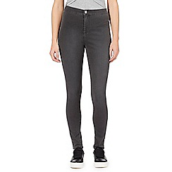 Red Herring - Grey 'Heidi' ultra-stretch high-waisted skinny jeans