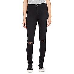 Red Herring - Black 'Heidi' high-waisted super skinny jeans