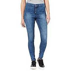 Red Herring - Blue acid wash 'Heidi' high-waisted super skinny jeans