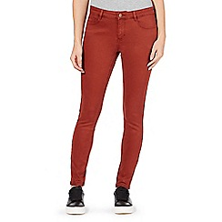 Red Herring - Dark orange 'Holly' super skinny jeans