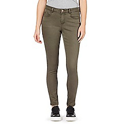 Red Herring - Khaki green 'Holly' super skinny jeans