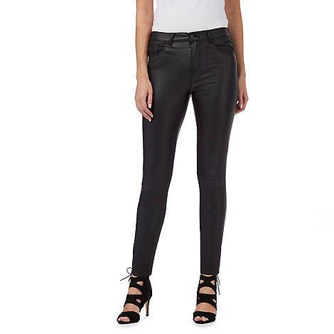 Red Herring Black coated skinny fit 'Holly' jeans | Debenhams