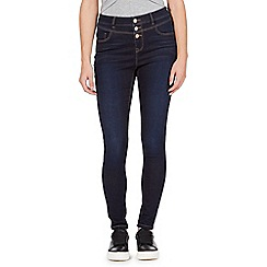 Red Herring - Dark blue 'Carly' high-waisted super skinny jeans