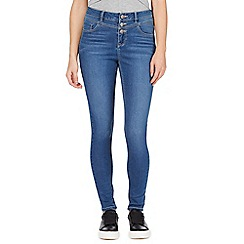 Red Herring - Blue 'Carly' high-waisted super skinny jeans