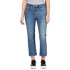 Red Herring - Light blue mid wash 'Amber Crop' kick flare jeans