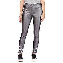 Red Herring - Metallic mid-rise skinny jeans