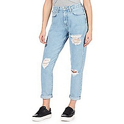 Red Herring - Light blue 'Demi Mom' high waisted straight jeans