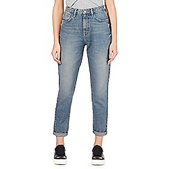 Red Herring - Blue 'Demi Mom' high waisted straight jeans