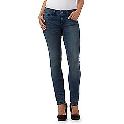 G-Star Raw - Mid blue vintage wash 'Lynn' skinny fit jeans