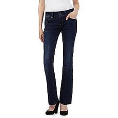 G-Star - Dark blue 'Midge' mid wash bootleg jeans
