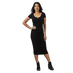 G-Star Raw - Black stretch midi dress